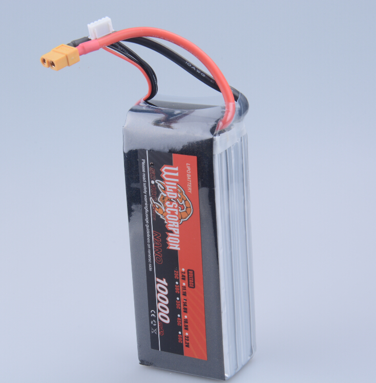 1pcs Wild Scorpion Lipo Battery 14.8V 10000mah 25C MAX 40C XT60 Plug For RC Quadcopter Drone Helicopter Car Airplane 1pcs lion power lipo battery 11 1v 1200mah 25c max 40c t plug for rc car airplane helicopter