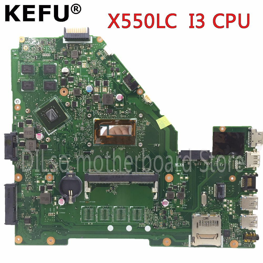 KEFU X550LC motherboard for ASUS X550LC X550lb A550LB A550LC X550LN laptop motherboard I3 CPU original tested mainboard in stock