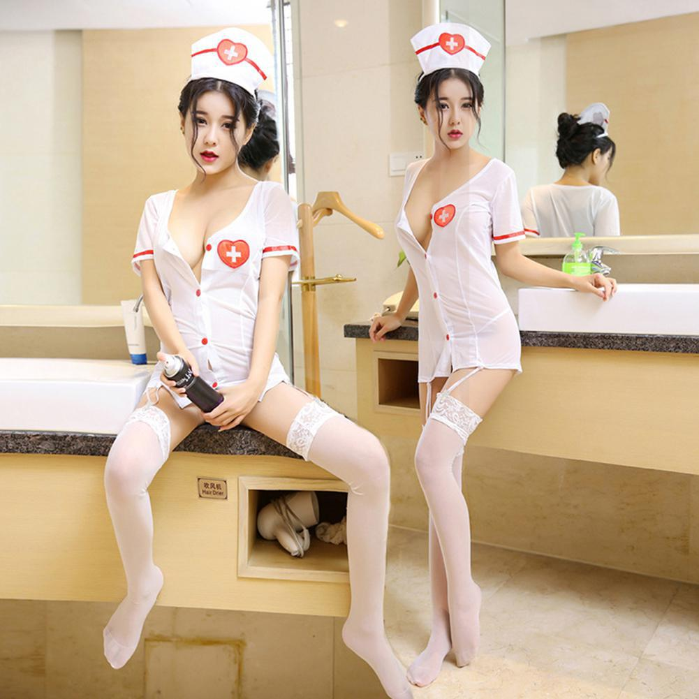Fashion Female Exotic Costume Adult Women Nurse Doctor Fancy Dress Costumes Cosplay Outfit Lingerie