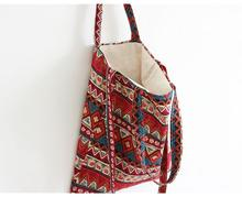 New Vintage Boho Hobo Hmong Ethnic Embroidery Shoppers Bag Womens shoulder bag Embroidered handbag