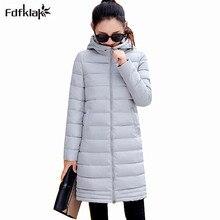 Fdfklak New Korean Winter Outerwear Women Winter font b Jacket b font Women s Slim Long