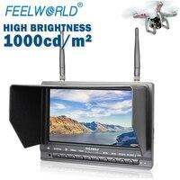 Feelworld PVR733 7 дюйм, монитор с функцией DVR Dual 5,8G 32CH приемник беспроводной монитор беспилотный монитор