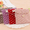 5 Colors Brief Cotton Full Dots Sanitary Napkin Bags Sanitary Towel Storage Bag