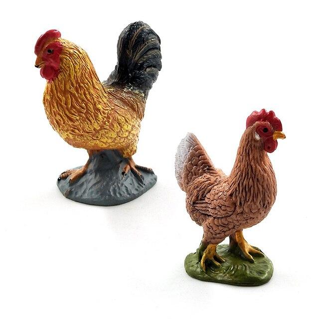 Farm animal model Artificial Chicken Duck Goose figurines Bonsai home decor miniature fairy garden decoration accessories modern 4