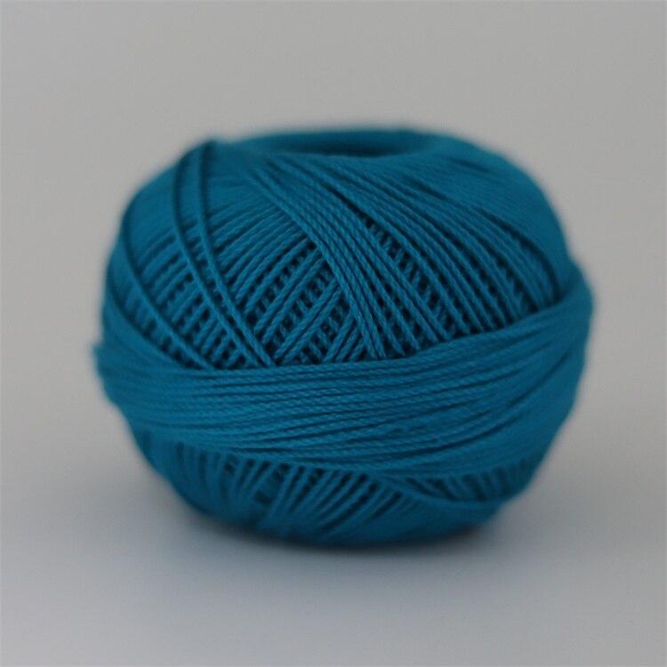 Размер 3 хлопковая Жемчужная Нить египетская длинная Штапельная хлопковая пряжа газированная двойная мерсеризованная 6 нитей плетение 50 грамм на шарик - Цвет: 665