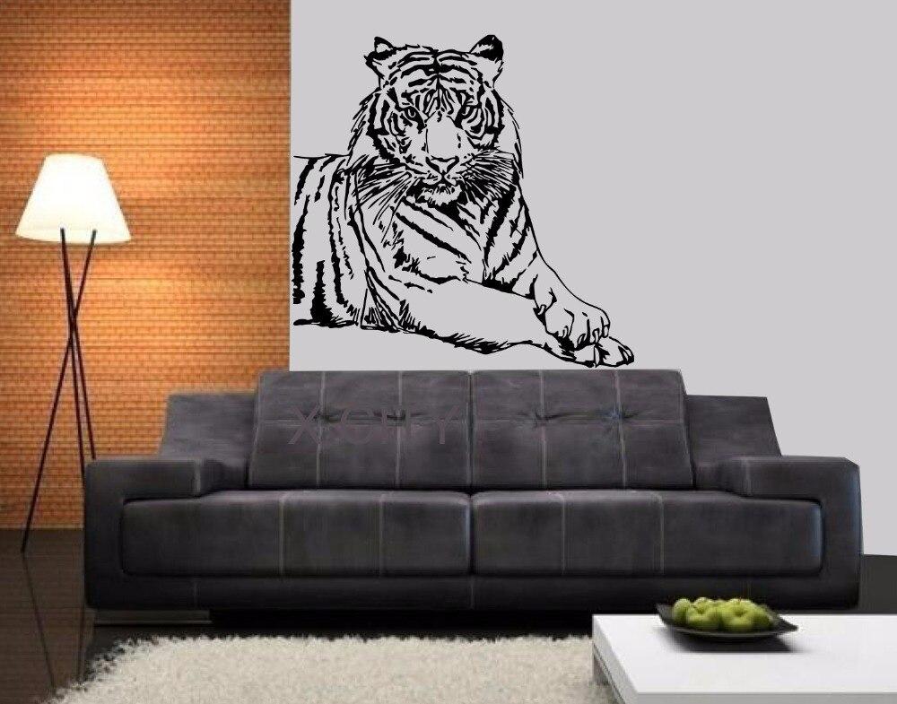 Tiger King Of Wild Animal Asian Predator WALL ART STICKER VINYL DECAL LIVING ROOM STENCIL MURAL