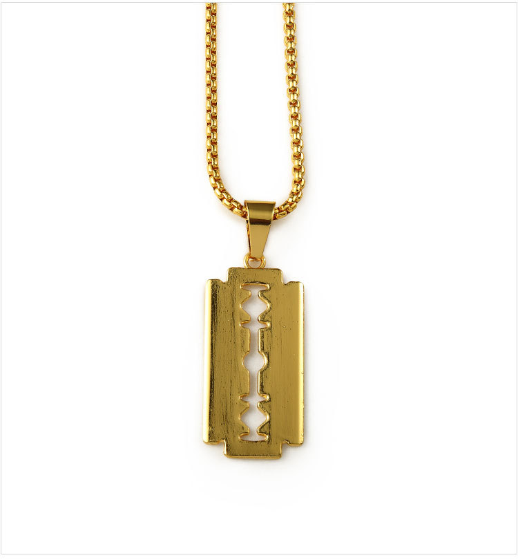 Ice out gold razor blade pendant necklace small blade men women hip ice out gold razor blade pendant necklace small blade men women hip hop necklaces charm chains rapper jewelry golden chain in pendant necklaces from jewelry altavistaventures Image collections