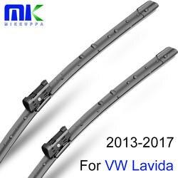 Mikkuppa спереди и сзади щетка лезвия для VW Lavida 2013 2014 2015 2016 2017 натуральный каучук Авто интимные аксессуары
