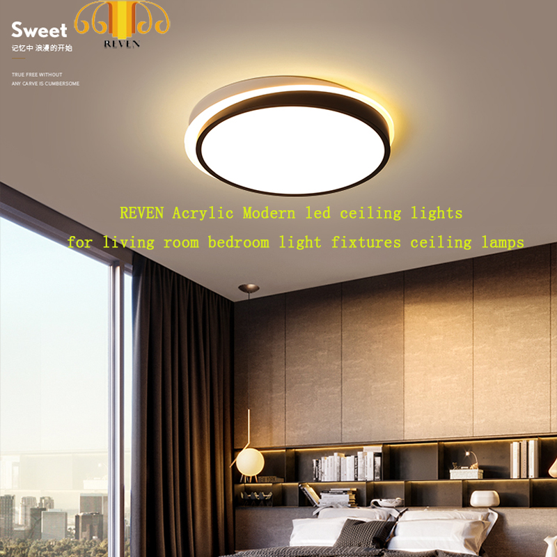 US $70.2 10% OFF|REVEN Acrylic Modern led ceiling lights for living room  bedroom light fixtures ceiling lamps-in Ceiling Lights from Lights &  Lighting ...