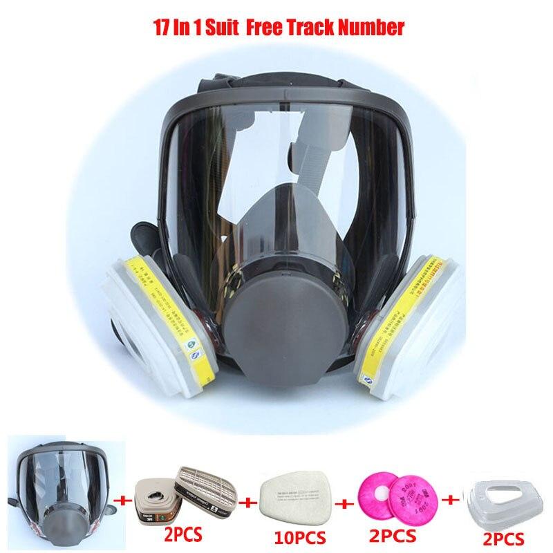 17 En 1 Costume Peinture Pulvérisation Chemcial Laboratoires Respirateur Gaz masque Même Pour 3 M 6800 Gaz Masque Plein Visage respirateur