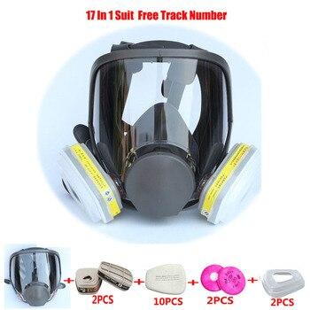 17 En 1 traje de pintura de pulverización de laboratorios químicos máscara de Gas respirador igual para 3 M 6800 máscara de Gas cara completa respirador