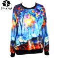 Hot Sale Autumn Women Hoodies Cosmic Watercolor 3D Printed Sweatshirt Long Sleeve Loose Casual Pullover For Couple 2017