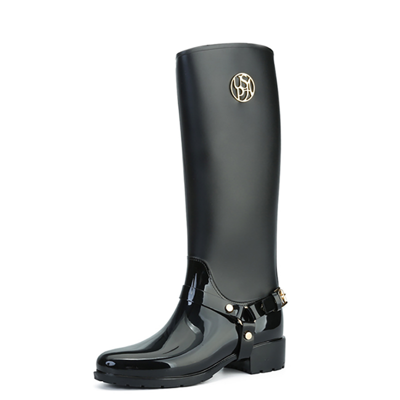 PVC Rain Boots for Women High Quality Waterproof Winter Boots with Elastic Knee-High Boots Women mnotht 1 6 action figure panzer third