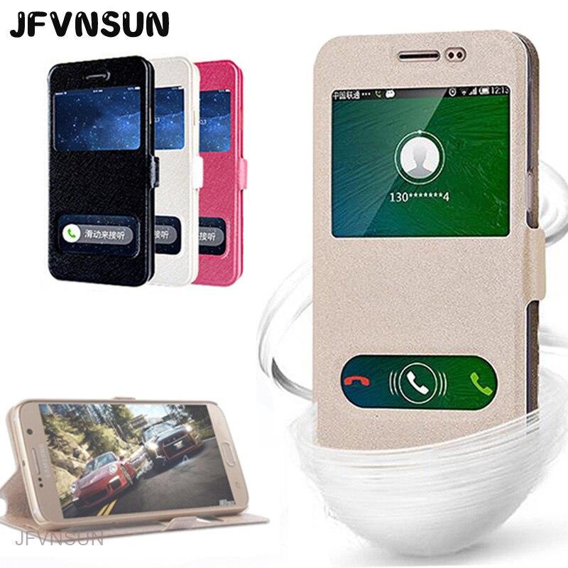 Galleria fotografica For Samsung Galaxy J3 SAMSUNG J3 2016 J320 J3109 Case NEW Window View Stand Phone Bag Fundas Leather Flip Cover for Samsung J3
