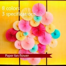 цена 15-30cm DIY Hanging Tissue Paper Fans Flower Decorative Wedding Party Paper Crafts for Wedding Birthday Party Festival