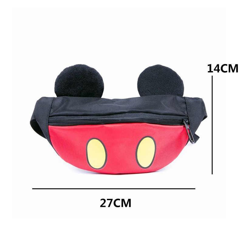 Disney Микки Маус Детская поясная сумка модная Водонепроницаемая нагрудная сумка унисекс плюшевый пакет кошелек телефонные сумки Детский рюкзак