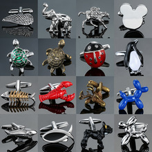 XKZM New luxury brand Cuff-links of high-grade Dog fish lobster Tortoise Animal Cufflinks men's shirts jewelry free shipping
