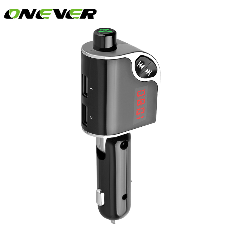 Trend Mark Onever Bluetooth Car Kit Wireless Handsfree Fm Transmitter Car Accessories Anti Noise Car Charger Support Tf Card/u Disk