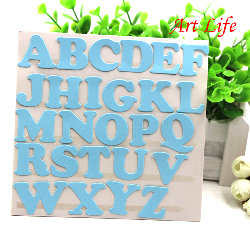 Large height alphabet metal cutting dies stencils for diy for Large letter die cuts
