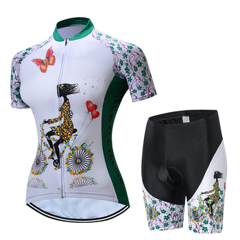 Weimostar Red Green Cycling Jersey Sets Summer Women MTB shirts Bike Cycling Clothing Breathable Bicycle Clothes Ropa Ciclismo