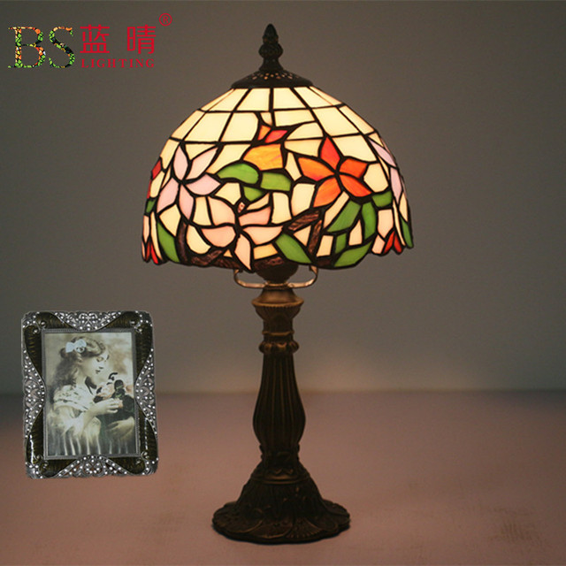 Dragonfly Stained Gl Lampshade Tiffany Table Lamp Country Style Bedside E27 110 240v