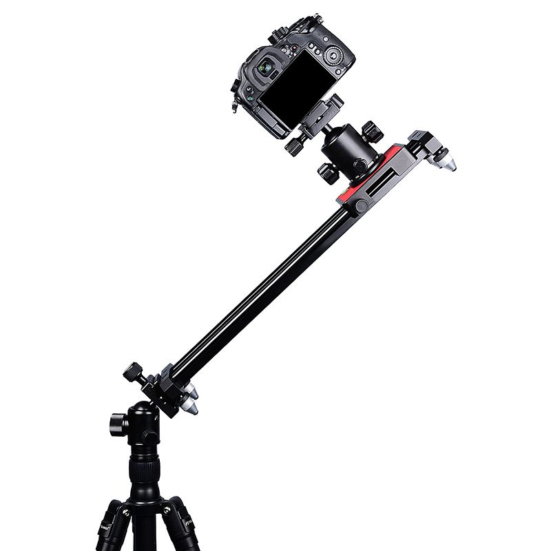 40cm/15inch Phone Video Slider Dolly, Portable Compact Track Travel Slider Rail System Stabilizer for iPhone Samsung DS compact retractable track dolly slider 50cm rail shooting video stabilizer 86cm actual sliding distance