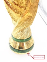 Peacock Stripe Marble Effect Top Quality Full Size 37cm 2KG Brazil World Trophy Cup 2014 Football