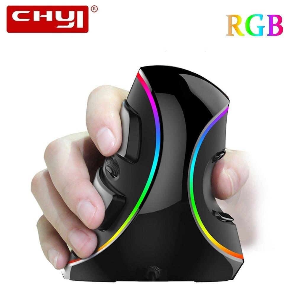 CHYI M618 Plus souris de jeu verticale ergonomique Gamer RGB rétro-éclairage souris optique filaire 6D 4000 DPI Mause pour Overwatch