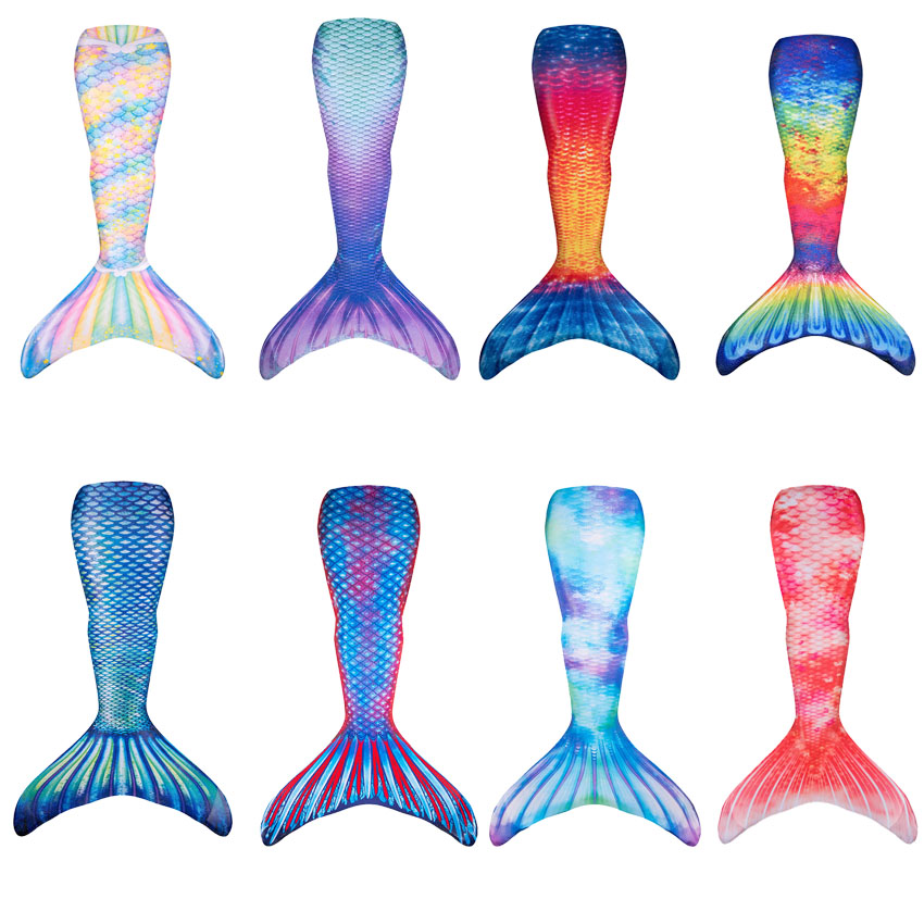 Kids Mermaid Tail Swimwear Little Mermaid Cosplay Costume Girls High Waist Bikini Mermaid Tails Zeemeerminstaart Cauda De Sereia(China)
