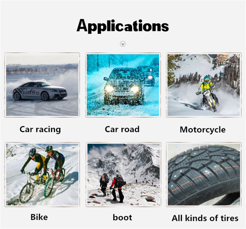 Universal 100pcs lot Car Tires Studs Spikes Wheel 8x12mm Snow Chains For Car Vehicle Truck Motorcycle Tires Winter in Snow Chains from Automobiles Motorcycles