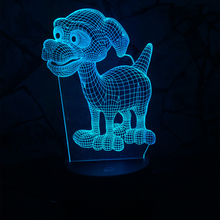 NEW Cute Dog 3D LED USB Night Light 7 Color Changing Creative Mood Desk Table Party  Bedroom Decor Lamp Child Kids Gifts Props