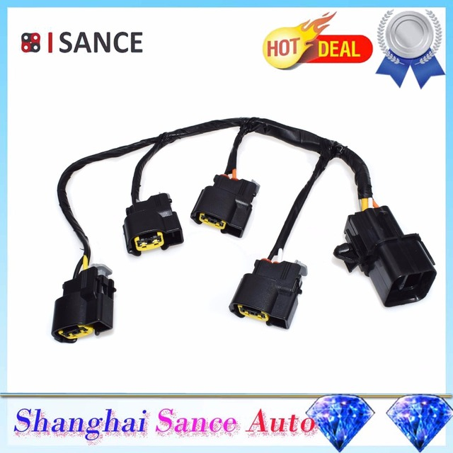 ISANCE Extension Ignition Coil Connector Wire Cable 27350 2B000 For