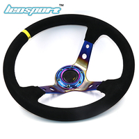 14 350mm For Omp Racing Steering Wheel Suede Leather Neochrome Iron Frame Steering Wheel Game Racing