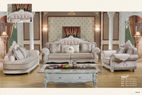 Home Furniture Sofa Set Living Room Sofa With Solid Rubber Wood Carving French Style Sofa