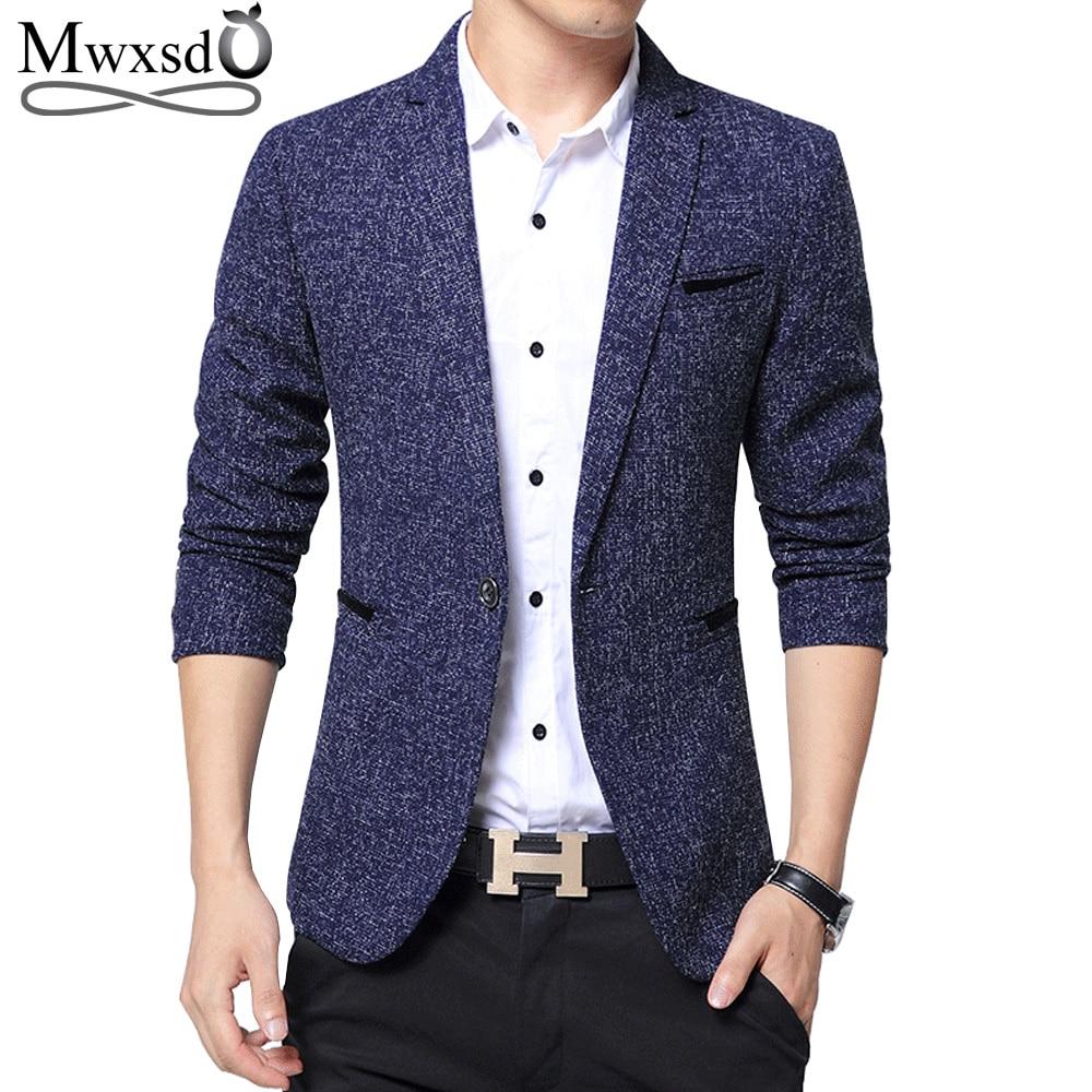 Mwxsd marca chaqueta de los hombres chaqueta de los hombres nuevo slim fit casual chaqueta de