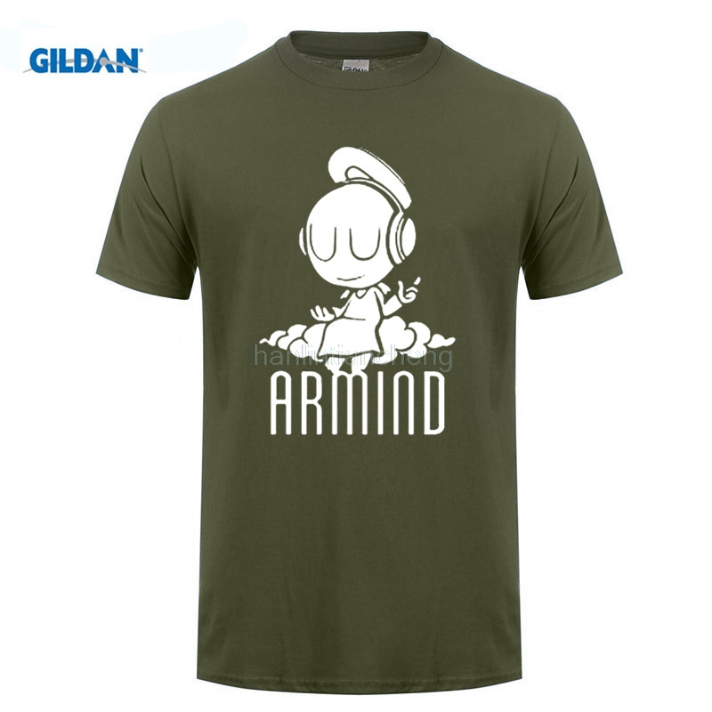 GILDAN customised T-shirt DJ Armin Van Buuren t shirt small angel Armind 2 variety cotton leisure short-sleeved t-shirts