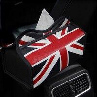 Nieuwe Mode De Union Jack Lederen Auto Tissue Box Cover Soft Tissue Dozen Automotive Interieur Levert