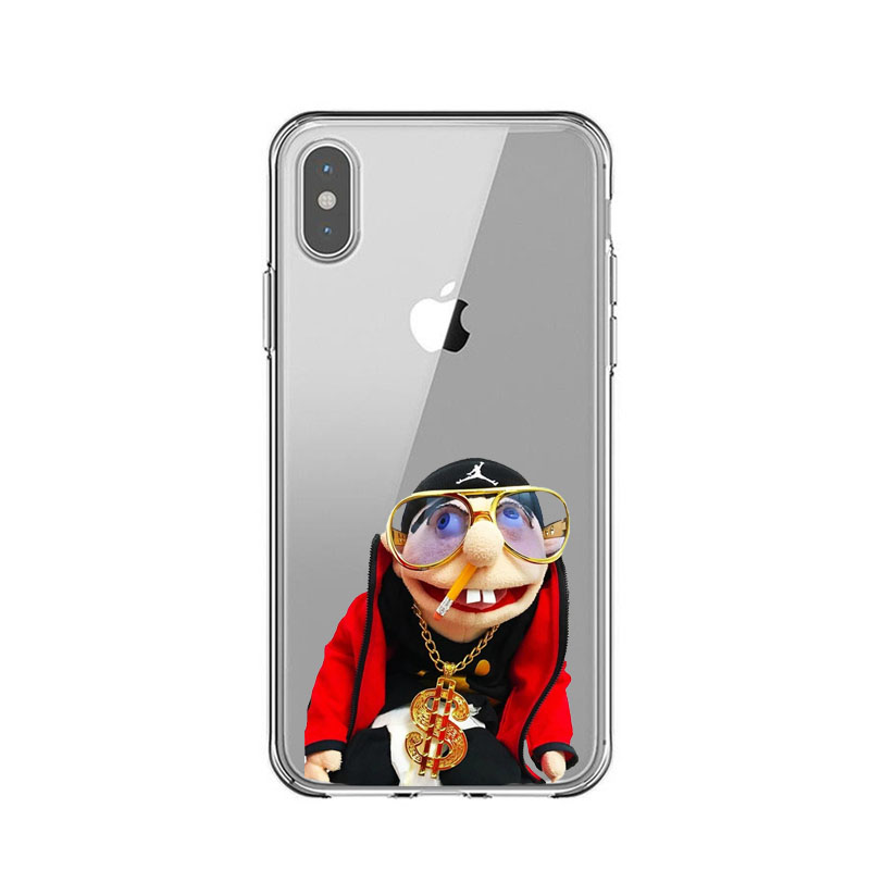 US $0 85 21% OFF|SML JEFFY HOPS Soft Silicone TPU Phone Cases for iPhone 5  5s SE 6 6SPlus 7 7Plus 8 8 Plus X XR XS MAX XS 5 8 6 1 6 5 inch Cover-in