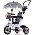 Nova Chegada Do Bebê Triciclo Multifuncional Bicicleta Bicicletas Infantil Carrinhos com Toldos Guarda-chuva das Crianças Treinamento Carrinhos Triciclo