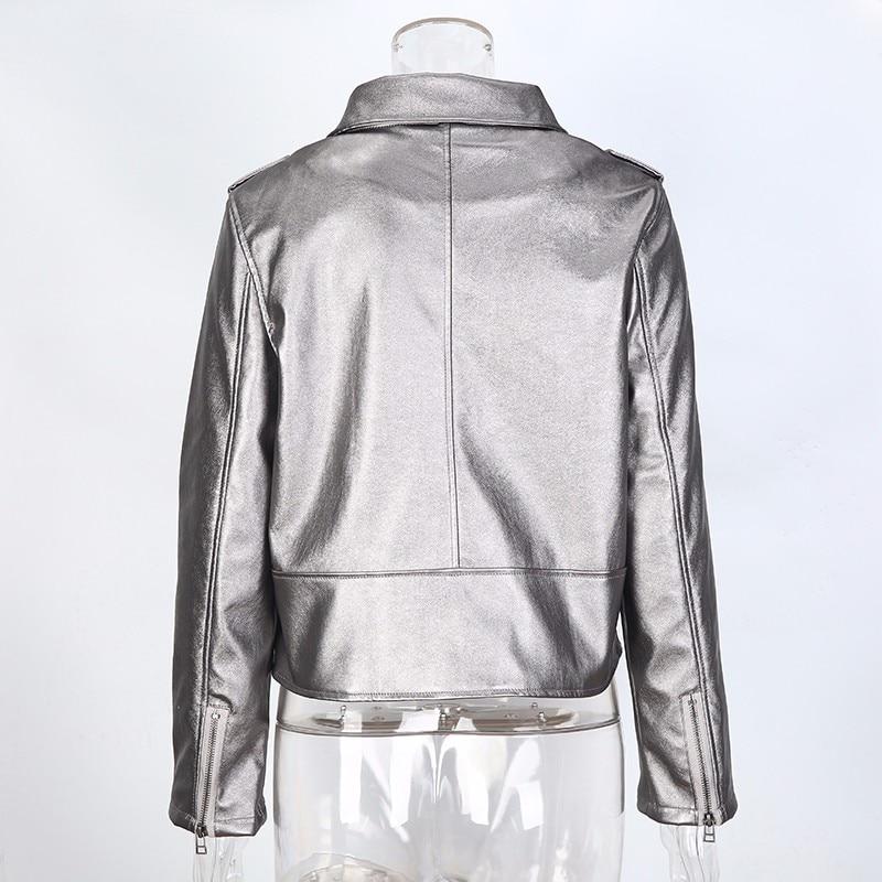 Silver Gray Punk Style Short Jacket 6