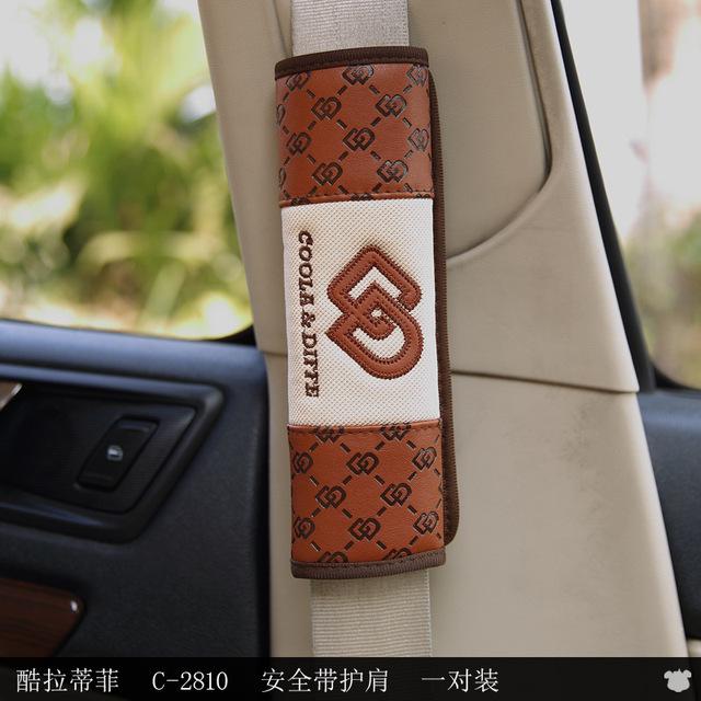 2 unids suite con clásicos de negocios cinturones de seguridad del coche del coche interior del automóvil de estilo