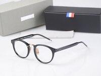 New York Thom Brand Optical Reading Eyeglasses Men Women TB008B Acetate Prescription Spectacle Myopia Eye Glasses