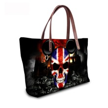 Noisydesigns 2018 fashion girls ladies famous brand designer shoulder bags  women handbag hologram national flag skull b546ec489daf9