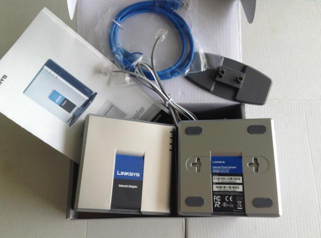 100% Orignal Desbloqueado VoIP Linksys PAP2T. Adaptador Del Teléfono Del Internet con Dos Puertos Del Teléfono, sin la Caja Al Por Menor/Al Por Mayor y Al Por Menor