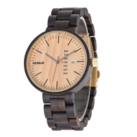 Men Women Quartz Sandalwood Watches Round Unisex Wristwatch Wood Material Hot Sale Couple Watch Adjustable Clock New Retro Style