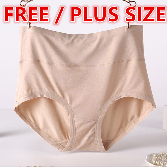 afb7093c1a292 Super Plus Size Sexy Women Modal Seamless High Waist Panties Lingerie Girls  Briefs Pants Bragas Underwear Knickers HC1883