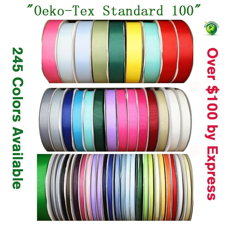 Solid Color Grosgrain Ribbon 1/4
