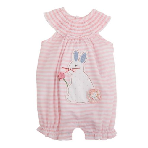 Cute Newborn Baby Girls Clothes Cotton Bunny Bubble Sleeveless Print Romper Jumpsuit Outfits Summer Clothing cotton