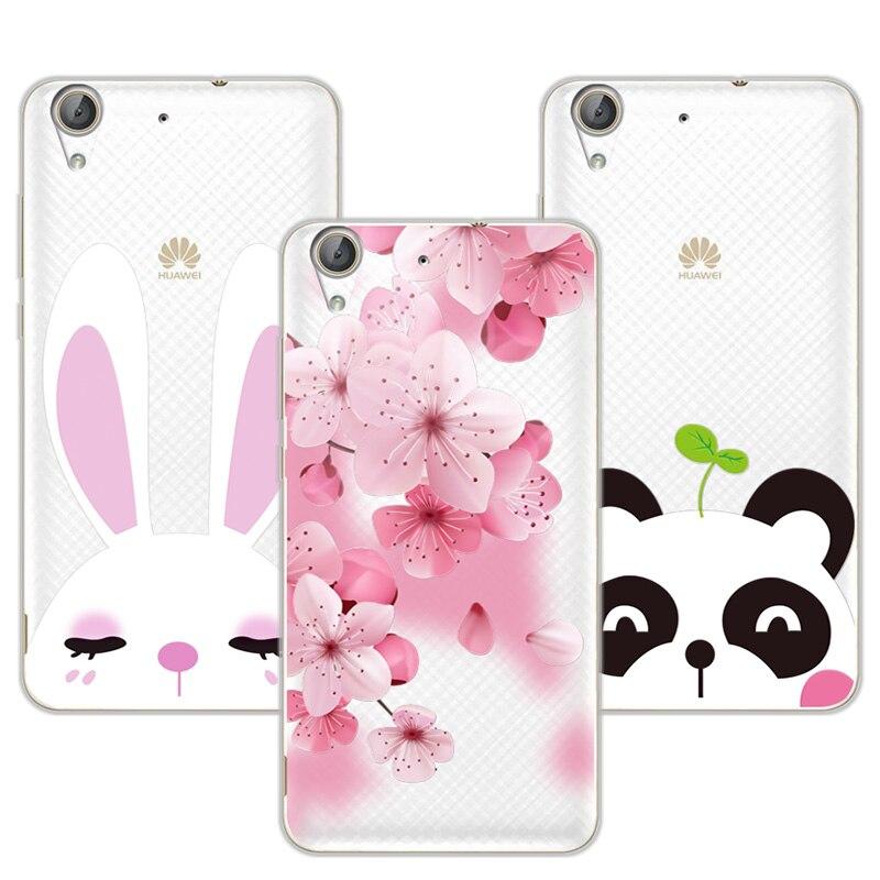 """Flamingo 3d Opluchting Kant Case Capa Voor Huawei Y6 Ii Y6ii 5.5 """"soft Tpu Leuke Kat Cover Fundas Voor Huawei Y6 2 Coque + Gratis Geschenk Pen"""