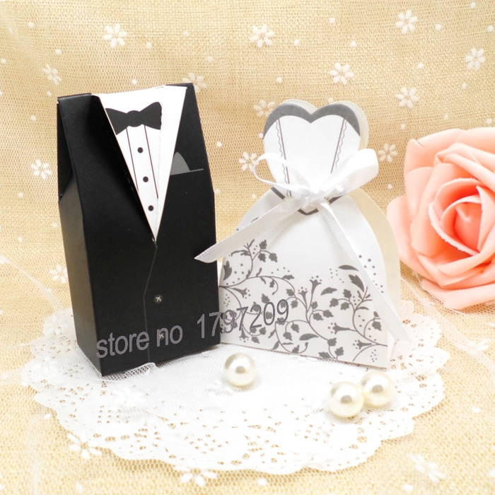 Aliexpress 100pcs Bride And Groom Wedding Favor Bo Gift Box Candy Baby Shower Souvenirs From Reliable